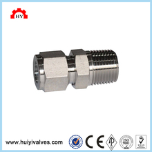 High quality 6mm compression fitting male twin ferrule tube