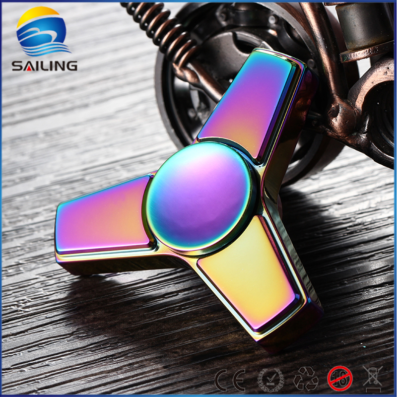 Hot Selling EDC Toys Triangular Hand Spinner Stainless Steel/Torqbar Brass Material Professional Fidget Spinner Autism and ADHD