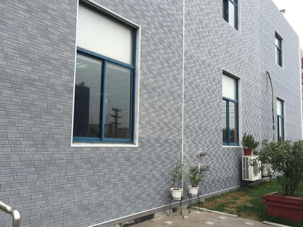 Decorative Wall Facade Panels Brick Pattern Embossed Metal