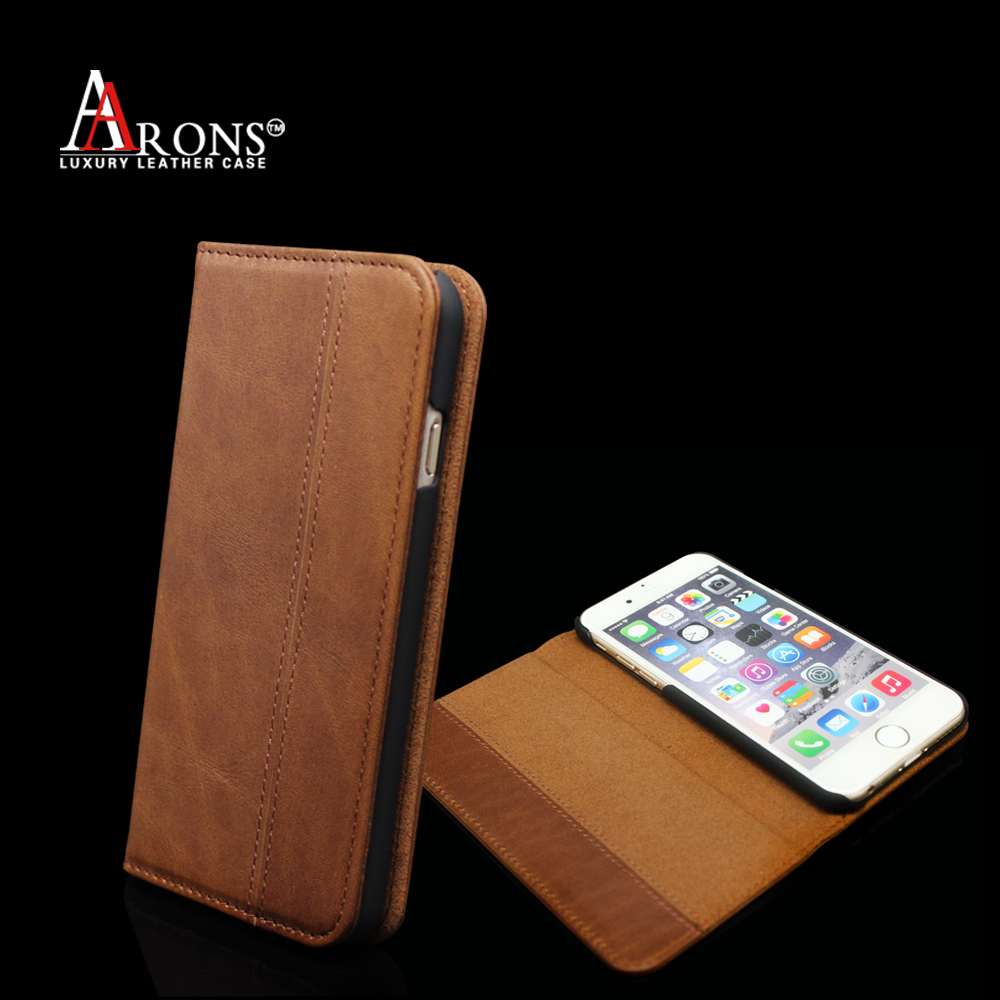 Premium wallet leather case ,for iPhone 6 4.7 inch genuine leather case