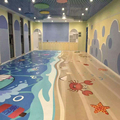 indoor children playground customized print floor