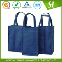 Handled,handle bag Style and Non-woven,80-160g non woven material Material PP recycle non woven 6 bottle wine tote bag