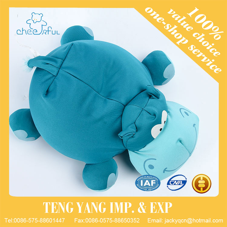 Super Soft fabric customized high quality lovely hippo toy