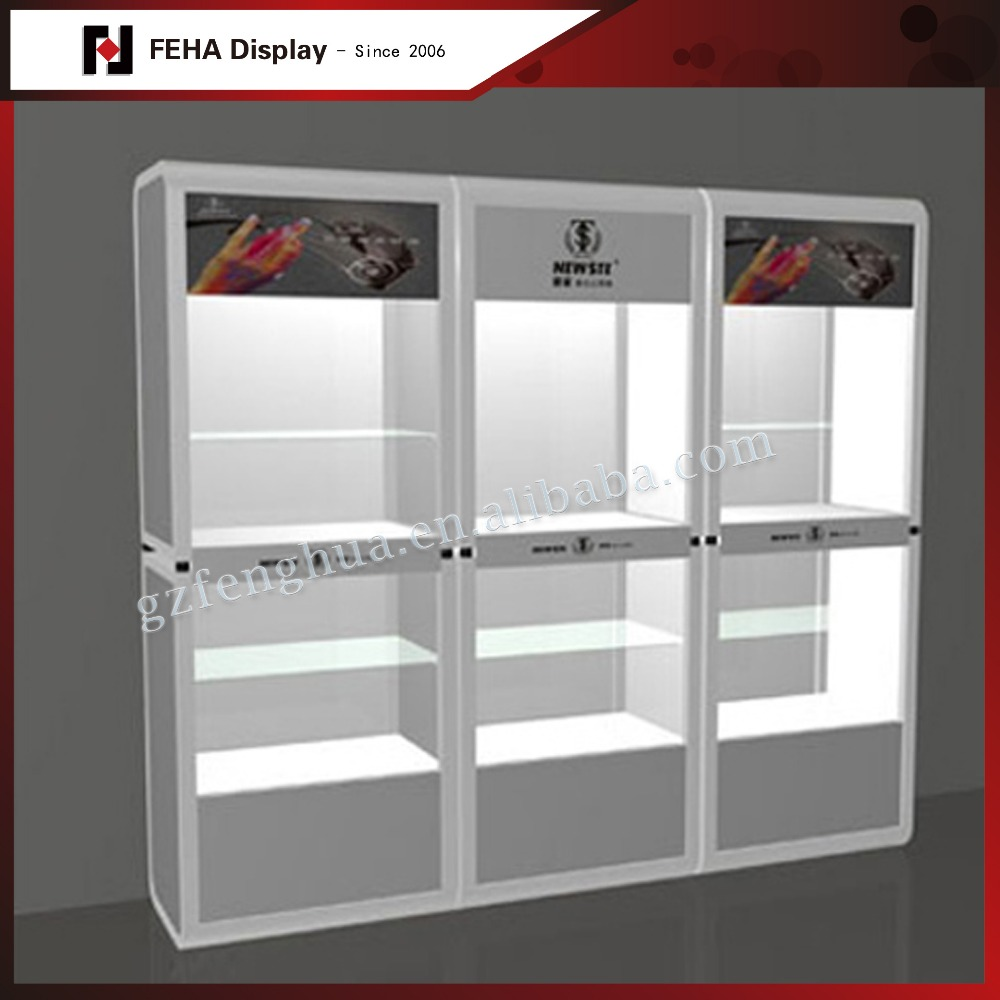 MDF mobile display showcase wall cabinet for phone store