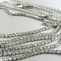 Preciosa Crystal Rhinestone Cup Chain Trimming For Shoes ,Hat,Necklace