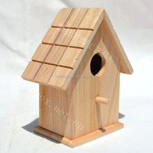 outdoor garden hanging natural color wooden bird pet house