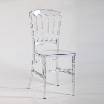 Hotel Crystal Clear Ice Resin Napoleon Wedding Chair
