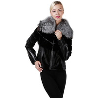 Lamb Jacket with Mink Trim lady jackets