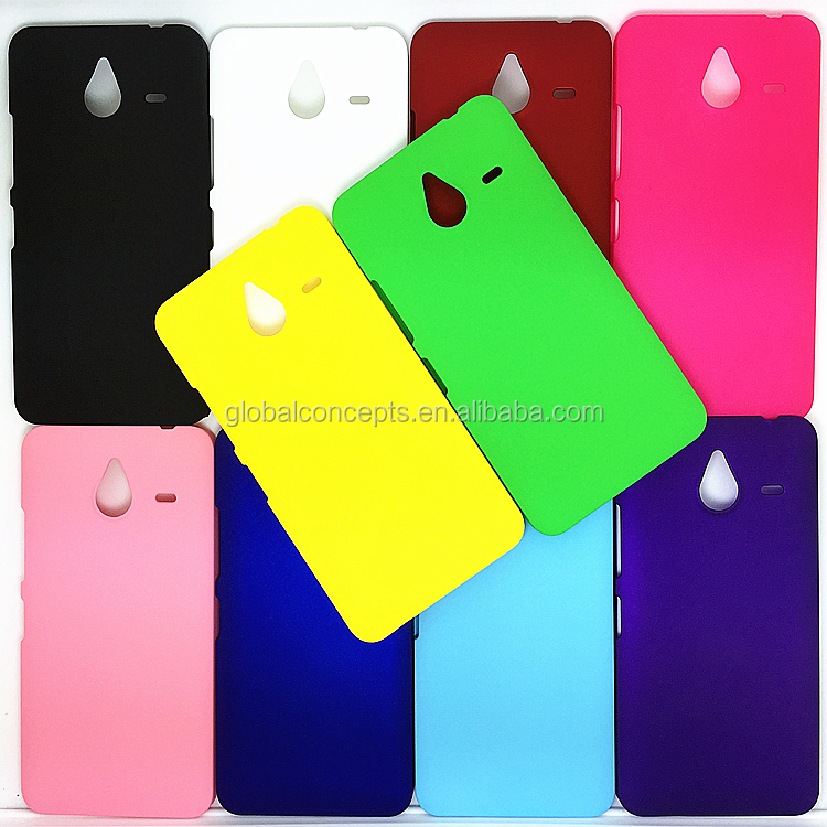 Colorful Rubber Oil Matte Hard Cover Case For Microsoft Lumia 640 XL