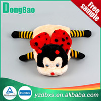 High quality 2000ml beauty spider hot water bag with red animal plush cover red and pink stripes