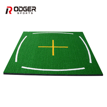 Dural 3D and synthetic nylon turf golf swing mat for training aids