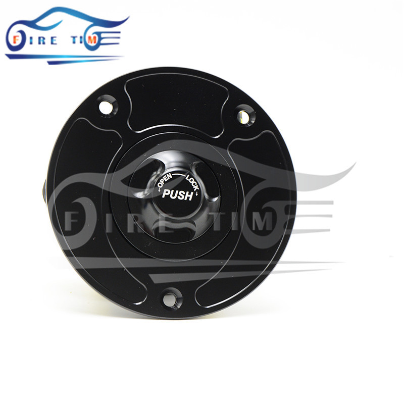 Get Quotations · Free Shipping Motorcycle Parts Black Color Fuel Gas Tank  Cap Cover Aluminum Alloy Fuel Cap For