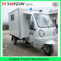 cheap 3 wheel car Ambulance Tricycle with closed door maed in china
