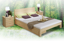 top sale high quality wooden bed solid wood plank pine double bed bedroom furniture
