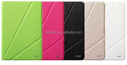 Tri-Fold Magnetic PU Leather Single Cover Case for iPad mini with Wake & Sleep Function