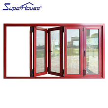 Superhouse front large panel wood color folding door with modern designs