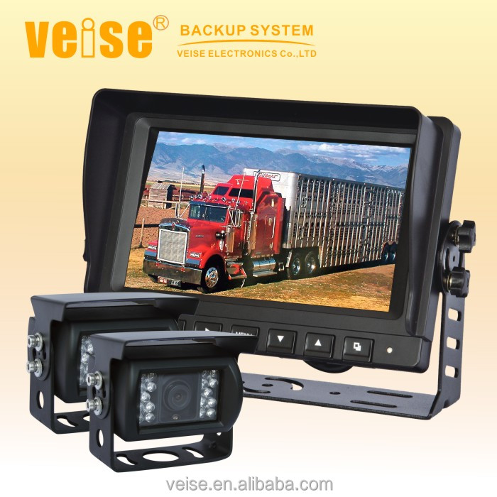 "7"" backup car camera video recorder infrared truck side view camera"