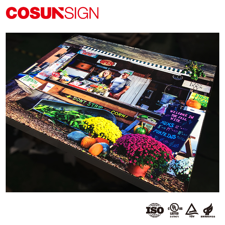 Aluminum LED fabric light box