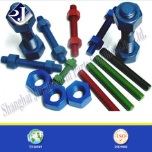 PTFE finished stud bolts and nuts hollow threaded rod thread rod m6