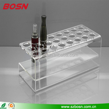 New design acrylic display holder stand E-cigarette organizers for countertop