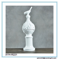 Resin white brid Sculpture for Home Decoration