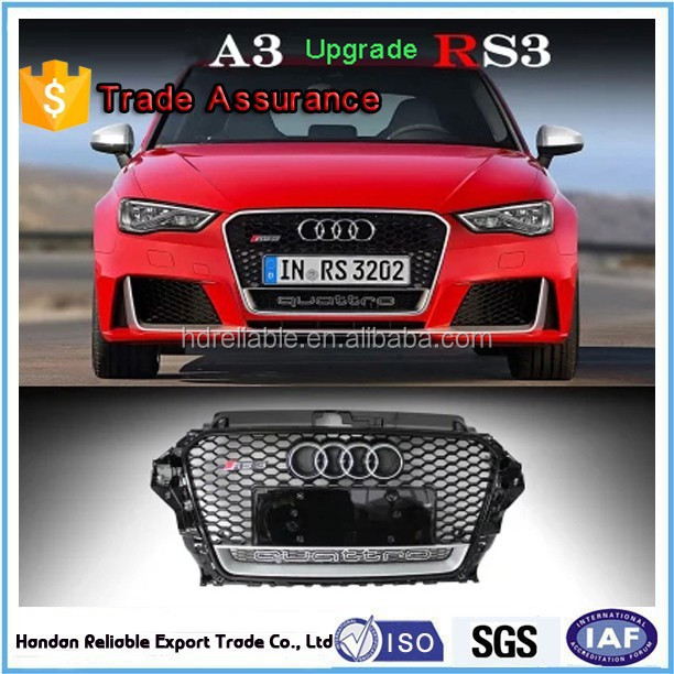 for grill audi rs3 . front grille for audi A3 S3 RS3 .2014-2015 for audi A3 modded S3 RS3