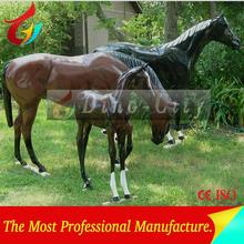 Outdoor FRP Racing Horse