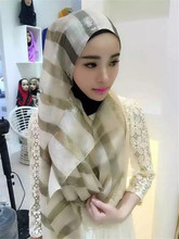 Beautiful Hat Scarf Strap Color Hijab Muslim Turban Head Wrap Women Wrap Shawl Hijabs