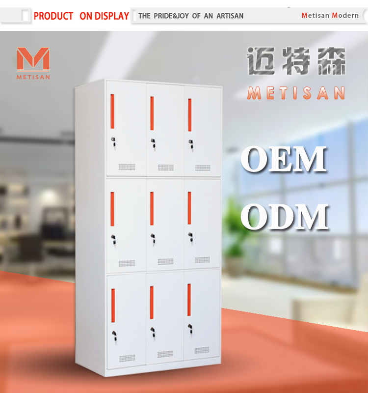 9 Door Locker Office Clothes Closet Knock Down Office Wardrobe