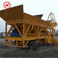 JS750 mini mobile concrete mixing batching plant for sale