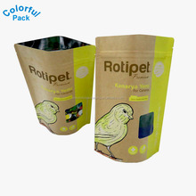 resealable zipper kraft paper food packaging bags stand up pouch with clear oval window