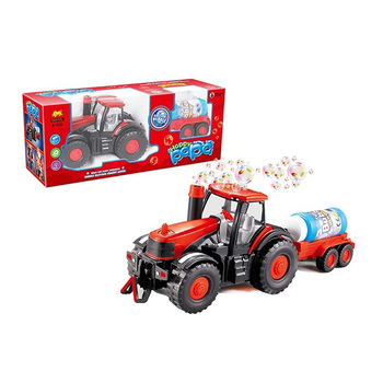 electric kids bubble machine farmer truck toy with light and music