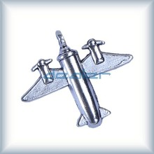 Silver architectural model transportation building material scale air plane