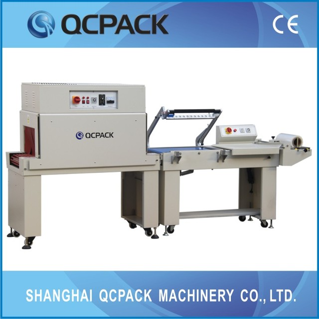 semi auto L bar sealer and shrink wrap machine (CE)from Shanghai manufacture