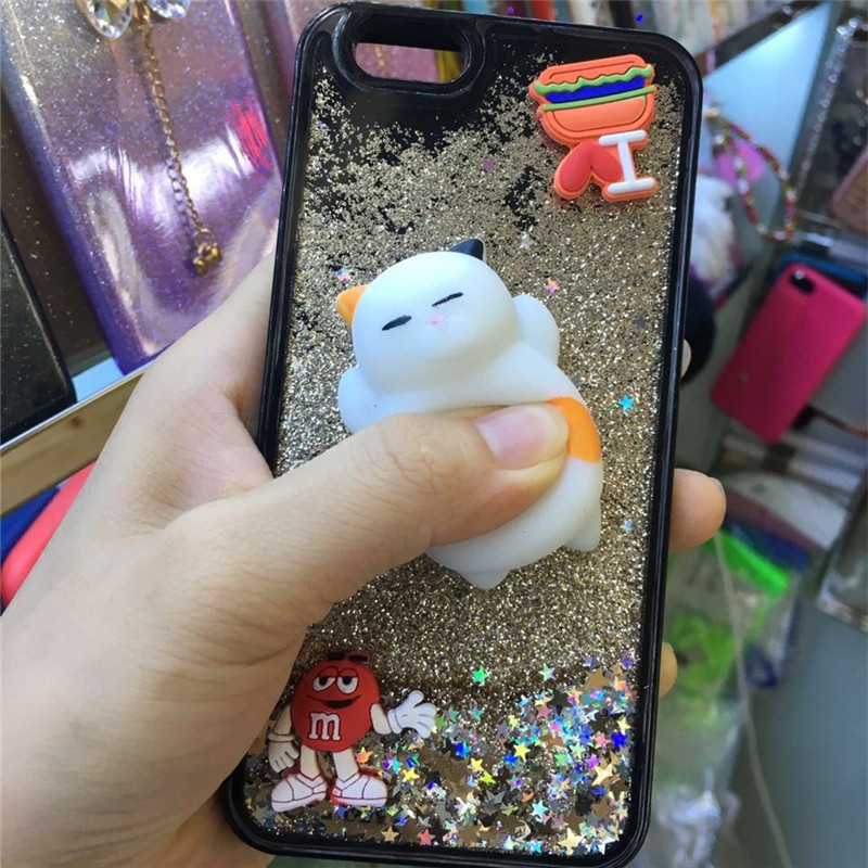 New Product Squeeze Toy Silicone Stress Release Cat Phone Case for iPhone 7/7s