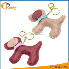 Different color cute simple leather dog key ring loops