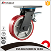 Wholesale heavy duty double ball bearings casters wheel cast iron swivel caster with brake