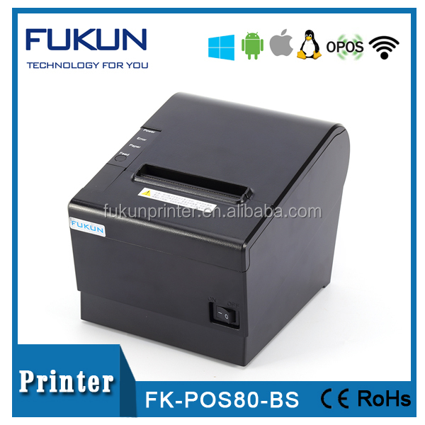 Built-in buzzer receipt printer supplier FK-POS80BS by full or partial cutter