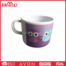 Wholesale superior animal printing melamine kids plastic rubber mugs