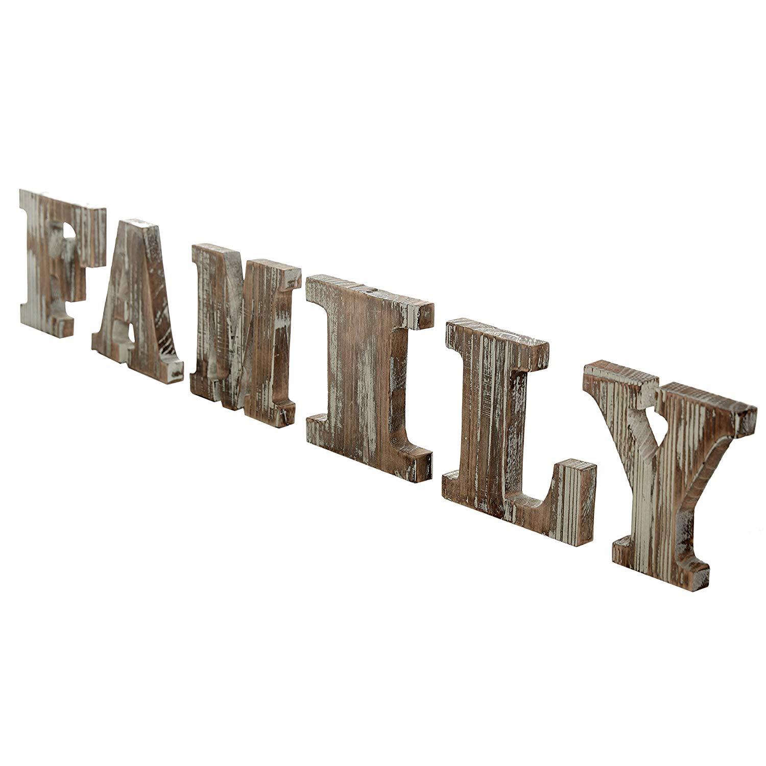 Mantel Decor Wood FAMILY Block featuring block letters