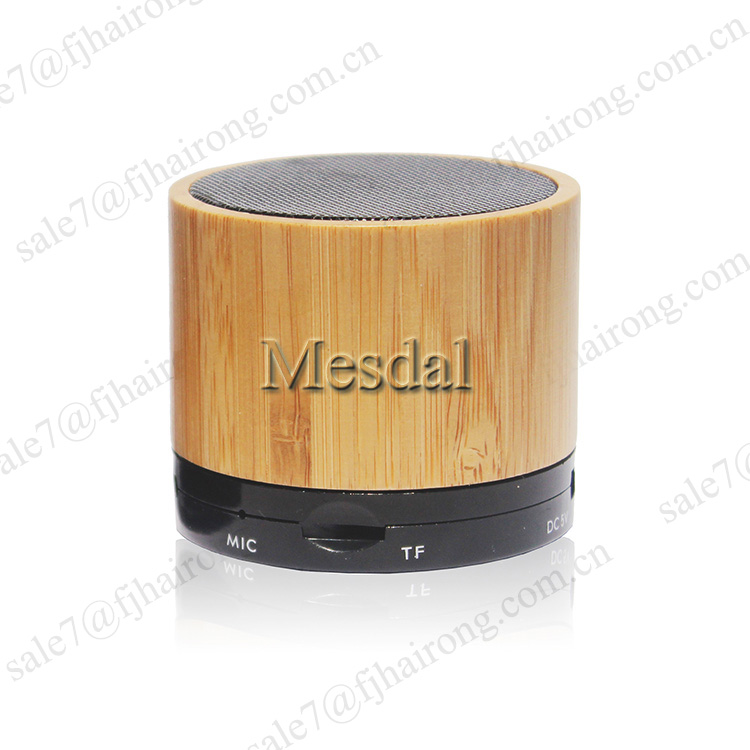 2017 trending products bamboo wood speaker amplifier mini portable speaker bluetooth bamboo loudspeaker support FM TF