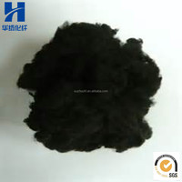 Black Recycled Polyester Staple Fiber For Nonwoven Geotextile