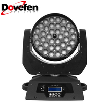 36*15W 6in1 Zoom LED Wash RGBWA+UV Moving Head Beam Light