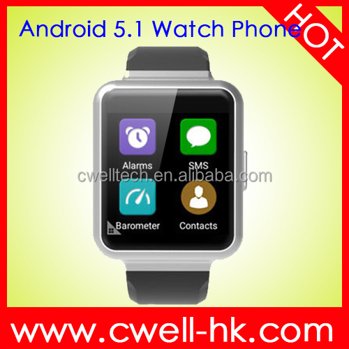 Android 5.1 Single Sim Card WIFI GPS MTK6580 RAM 1GB ROM 8GB 3G Unlocked Smart Watch Phone Smart Q1
