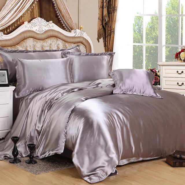 Yintex 100% mulberry silk duvet cover sets silk pillowcase silk mulberry bed sheets