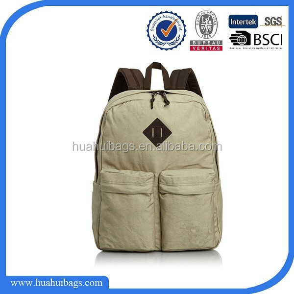 2017 Stylish Cheap Neutral Canvas Backpack