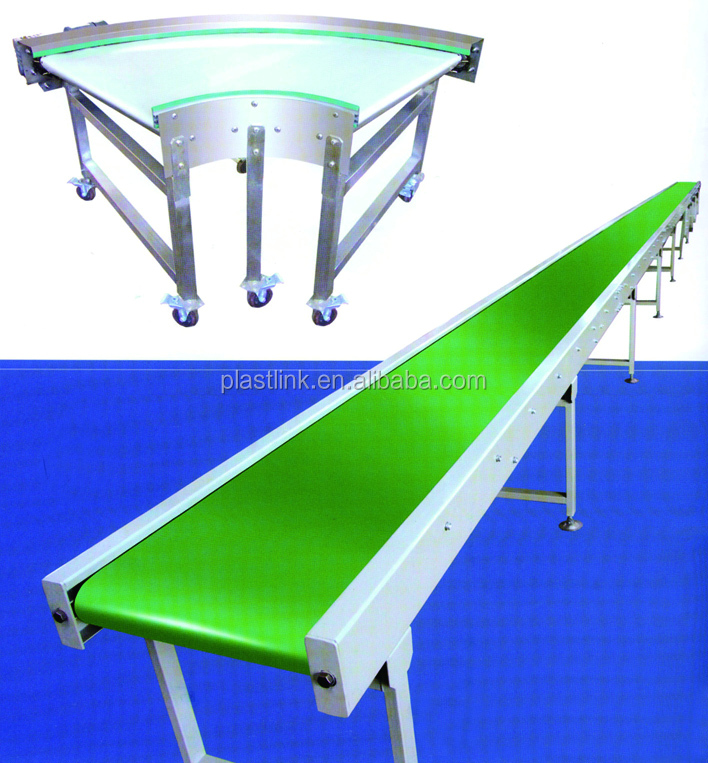 Plast Link China adjustable height belt conveyor for firewood