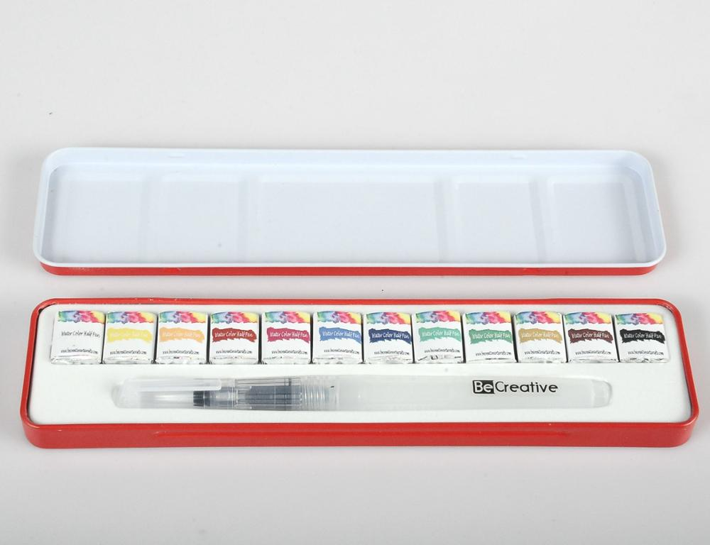 TARGET audited supplier damp-dry metallic watercolor set ,solid watercolor