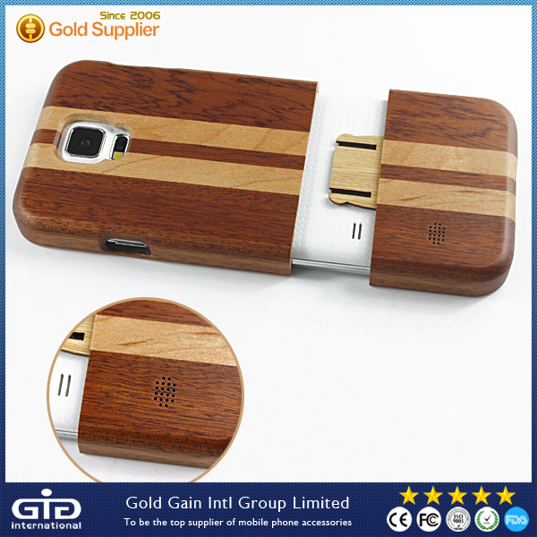 2015 New Wooden Cell Phone Case For Samsung For Galaxy S5