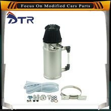 0.75L Original D1-Spec Round Oil Catch Tank Oil Collector Anodized Aluminum With 15mm Connections Fuel Tank Oil Tank